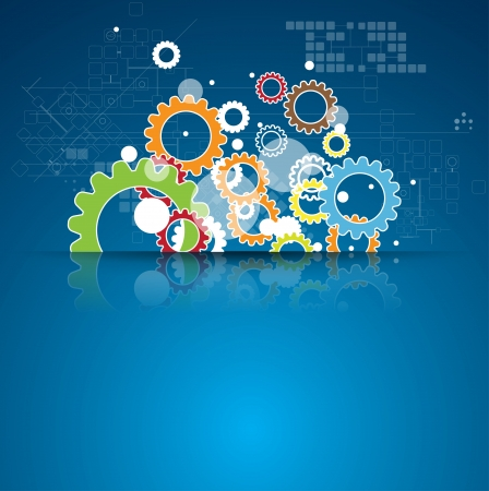 astratto globale infinito computer tecnologia concetto aziendale sfondo Vettoriali