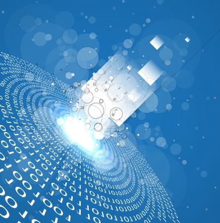 abstrait infini technologie informatique fond concept d'affaires global
