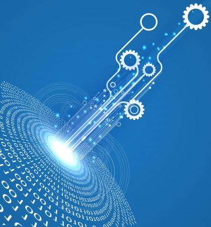 Abstrait infini technologie informatique fond concept d'affaires global Banque d'images - 22566302