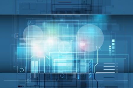 tecnologia: astratto globale infinito computer tecnologia concetto aziendale sfondo