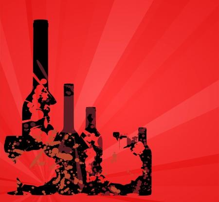 ガラスの背景を持つワイン メニュー カードのデザイン