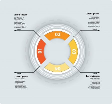 abstract infographic module