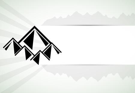 winter range: Mountains retro vector background