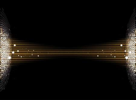 night club: Round gold disco lights circle abstract background