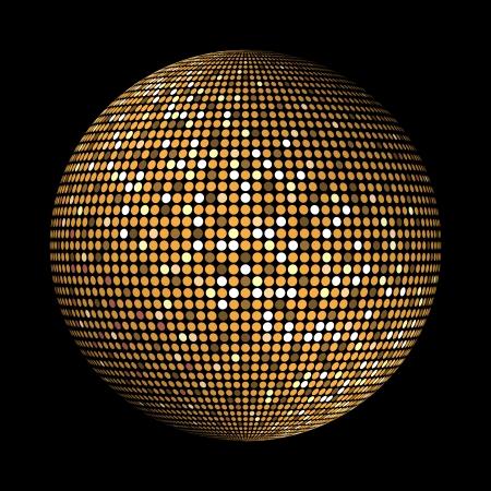 Ronde goud discolichten cirkel abstracte achtergrond