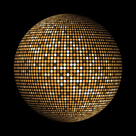 dance studio: Round gold disco lights circle abstract background