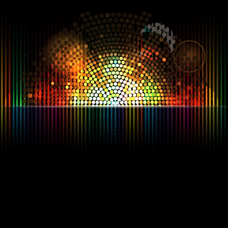 abstract music volume equalizer infinity computer  technology concept business background Vector