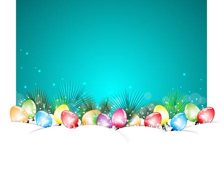 newyear: Feliz Navidad y NewYear blanco bulbo Vectores