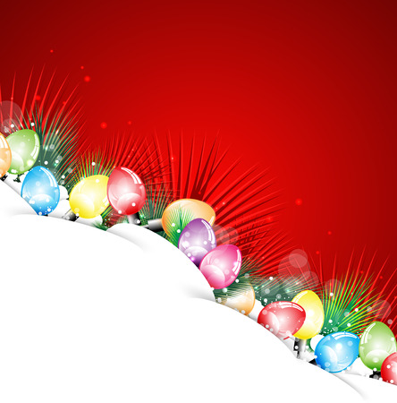 happy newyear: Happy NewYear and Christmas bulb background