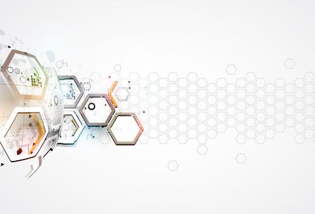 технология: абстрактной футуристической цепь высоких компьютерных технологий бизнес фон