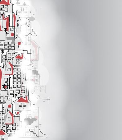 casa: astratta immobiliari citt� circuito specchio sfondo di affari Vettoriali
