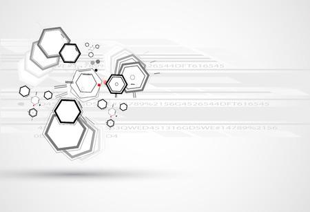 tecnología de la fórmula química abstracta ciencia de negocio de fondo Ilustración de vector