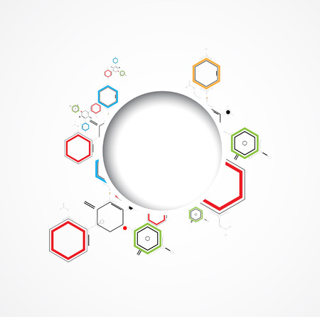 abstract chemical formula technology business science background Vector