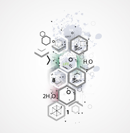 organic chemistry: abstract chemical formula technology business science background