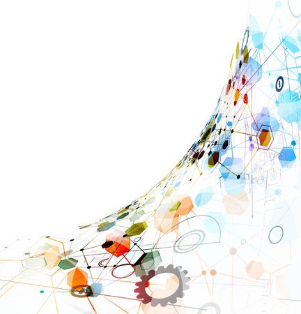 abstracte wereldwijde infinity computer technologie concept zakelijke achtergrond Stock Illustratie