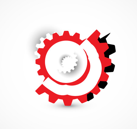 abstract bacground: machine technology gears. retro gearwheel mechanism abstract bacground