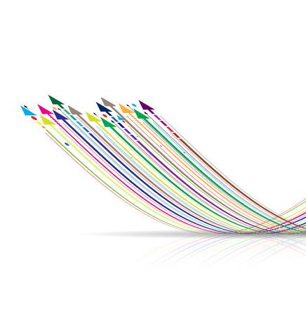 base: arrow internet high computer technology business background Illustration