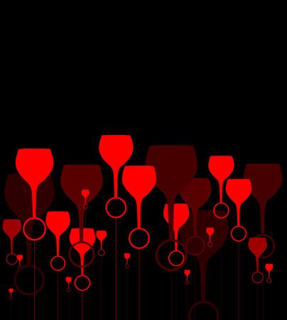 scheda vino concetto di fondo alcool bere bicchiere Vettoriali