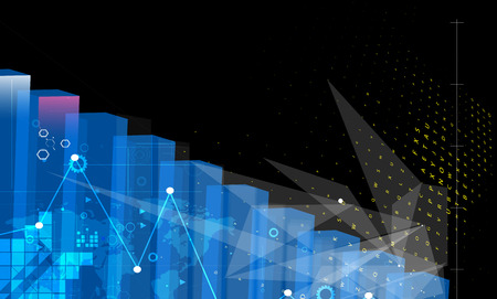 concept de la technologie informatique résumé infini global fond des affaires