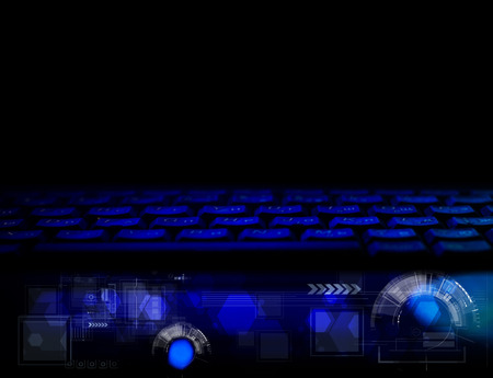 technolgy: Abstract technolgy business concept with keyboard. Modern background