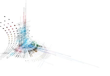 Konzept für neue Technologie, Großunternehmen und Entwicklung