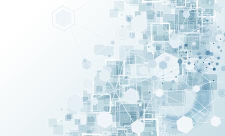 Concept voor New Technology Corporate Business & development achtergrond Vector Illustratie