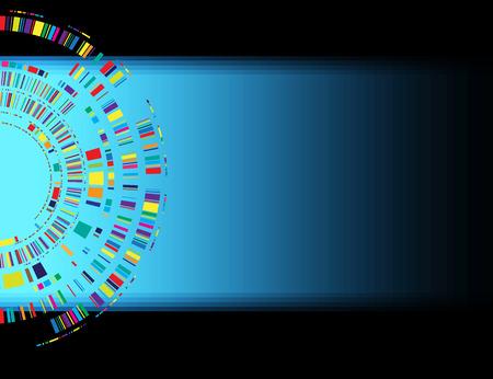 Concept pour les nouvelles technologies d'entreprise et développement fond