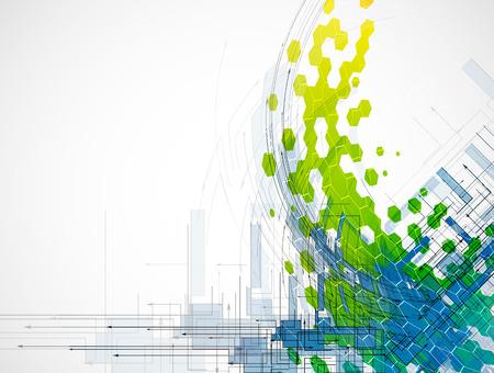 L'innovation technologique fond, idée de solution d'affaires globale
