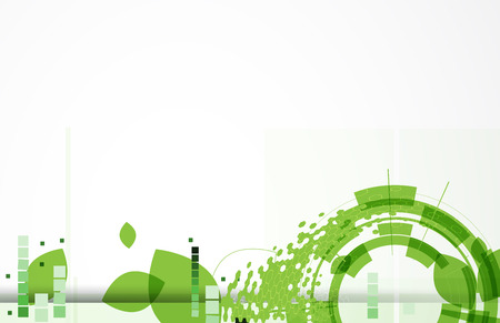system development: high tech eco green infinity computer technology concept background