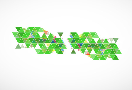 abstract green triangle ecology business and technology computer background Vector