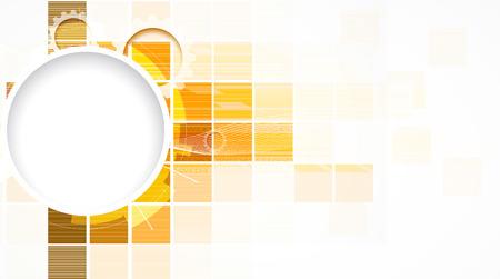 abstract interface de communication d'arrière-plan de la technologie de cube d'or de solution commerciale Vecteurs