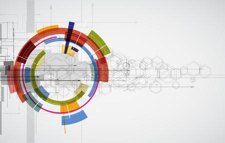tecnologia informacion: La tecnolog�a de estilo futurista.