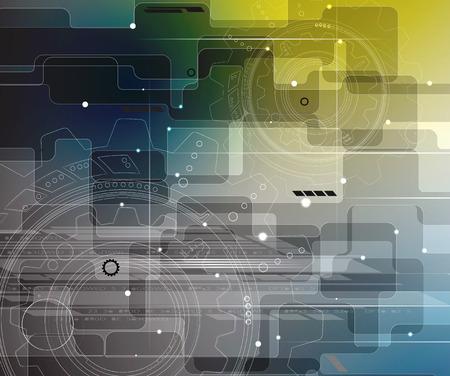 infomation: retro gearwheel mechanism abstract background Illustration