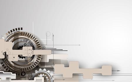 steel construction: retro gearwheel mechanism abstract background Illustration