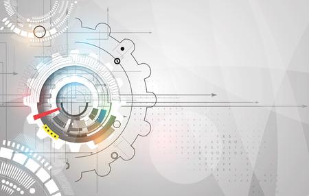 ingeniería: engranajes de tecnología de la máquina. mecanismo de retro rueda dentada fundamento abstracto Vectores