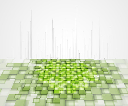 high tech eco green infinity computer technology concept background Vector