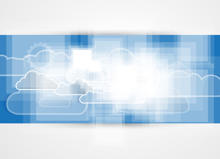 Sky save technology concept. Virtual power of business concept Vector