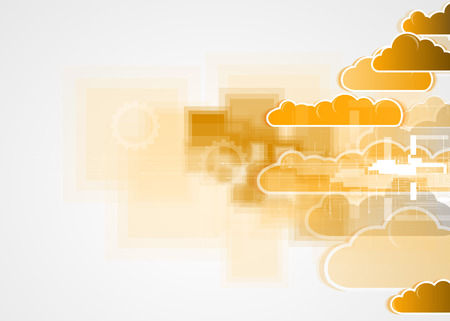 maturation: Sky save technology concept. Virtual power of business concept