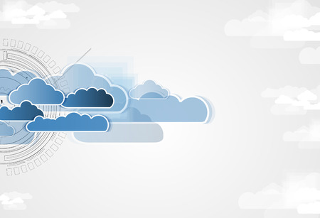 maturation: Model of Integration technology with cloud in the sky. Best ideas for Business presentation