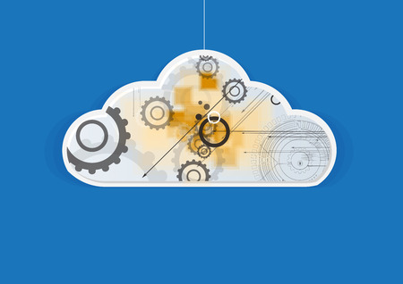technolgy: Abstract technolgy business concept with cloud. Modern background