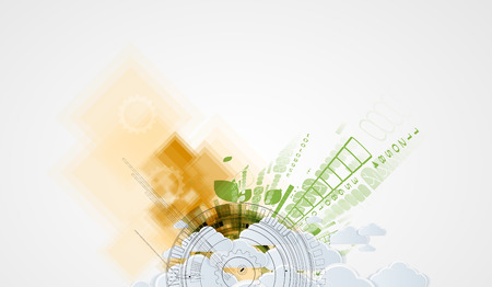 technolgy: Abstract green technolgy business concept. Ecology background