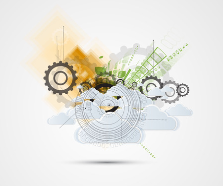 technolgy: Abstract green technolgy business concept.Ecology background