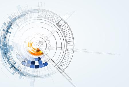抽象的なベクトルの背景。未来的な技術スタイル。ビジネス技術プレゼンテーションのエレガントな背景。