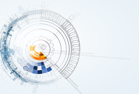 corporativo: Fondo abstracto del vector. La tecnología de estilo futurista. Fondo elegante para presentaciones de negocios de alta tecnología.