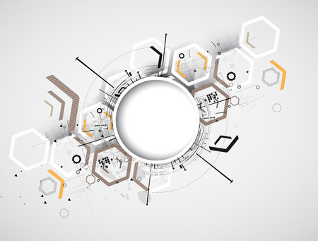 Integración y tecnología Innivación. Las mejores ideas para modelo de presentación de negocios Ilustración de vector