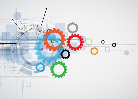 Integración y tecnología Innivación. Las mejores ideas para modelo de presentación de negocios Foto de archivo - 34220008