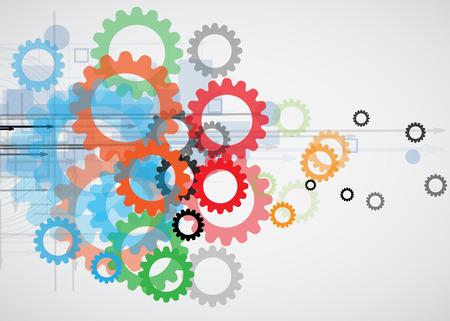 통합 및 innivation 기술. 비즈니스 프리젠 테이션 모델에 대한 최고의 아이디어