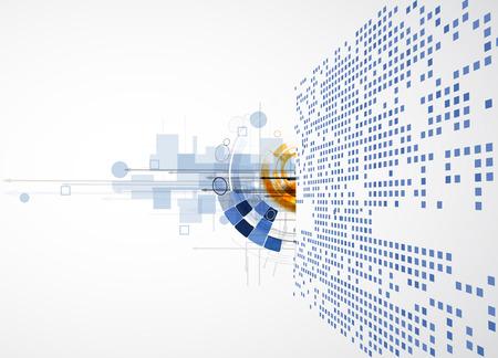 ingeniería: abstracto infinito tecnología informática concepto de fondo de negocio global