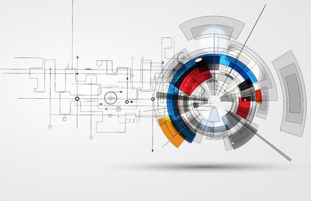 Résumé de fond de vecteur. Le style futuriste technologie. Elegant background pour les présentations d'affaires de technologie. Banque d'images - 34866812