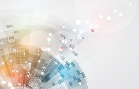 abstraktní: Abstract vector background. Futuristická technologie styl. Elegantní pozadí pro podnikání tech prezentace. Ilustrace